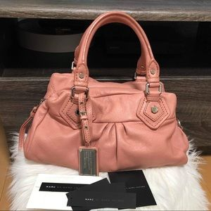 MARC JACOBS PINK LEATHER BAG EUC FIRM